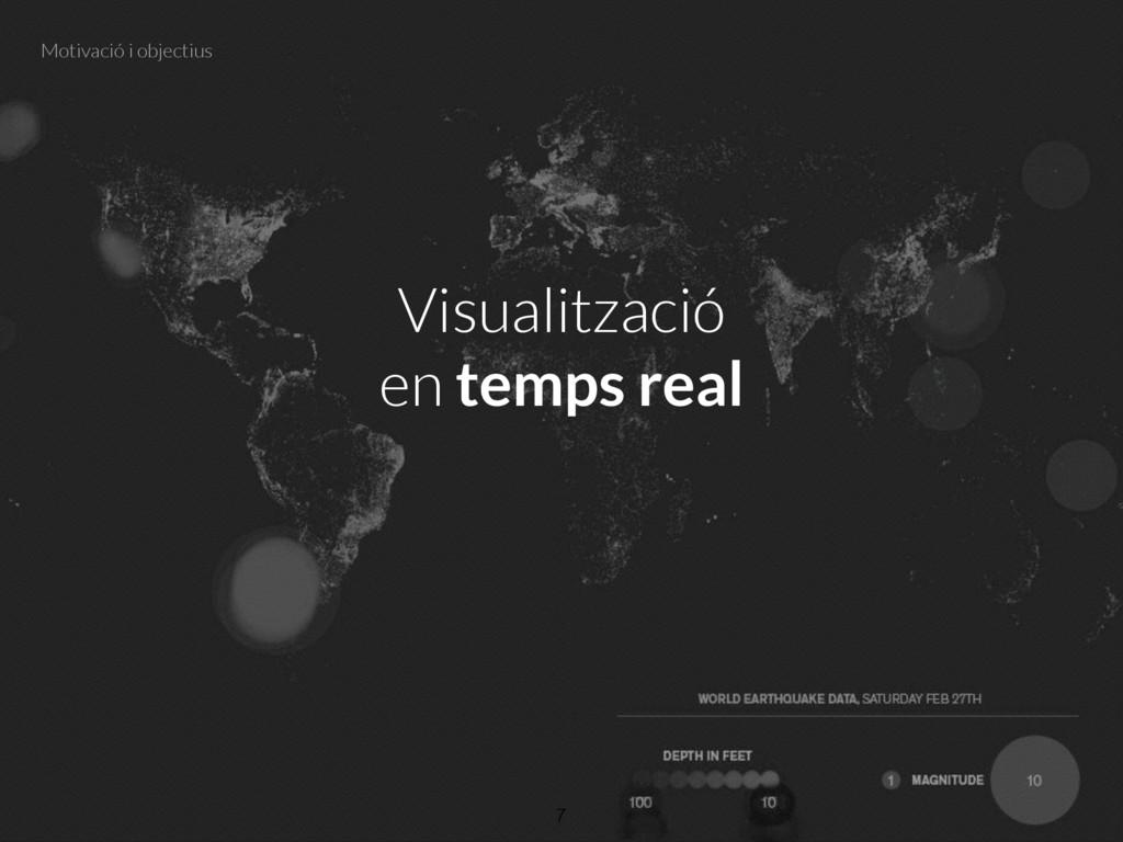 Visualització en temps real 7 Motivació i objec...