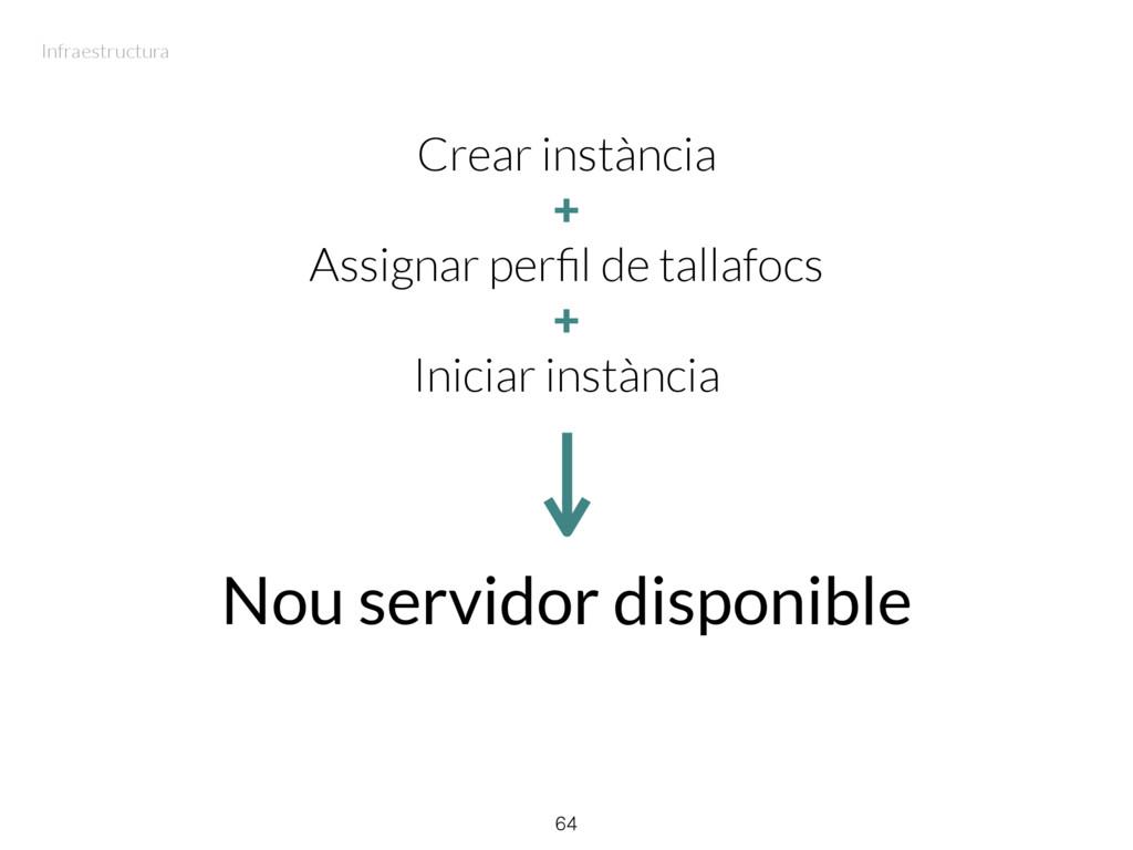 Crear instància + Assignar perfil de tallafocs +...