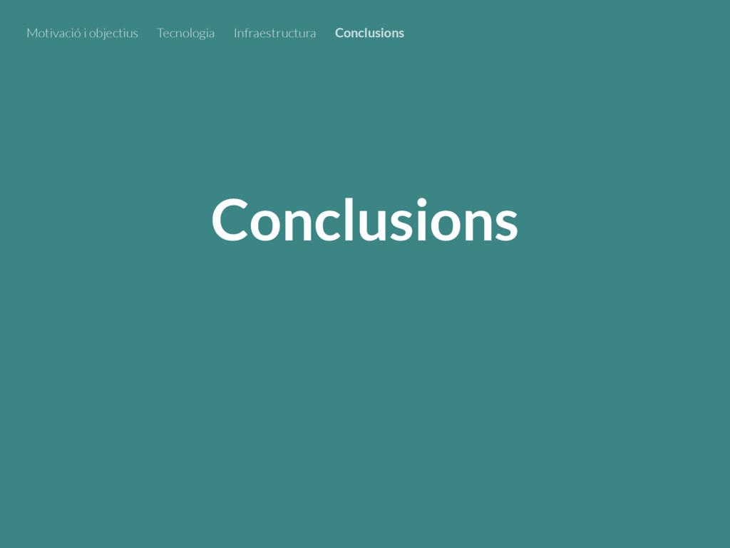 Conclusions Motivació i objectius Tecnologia In...