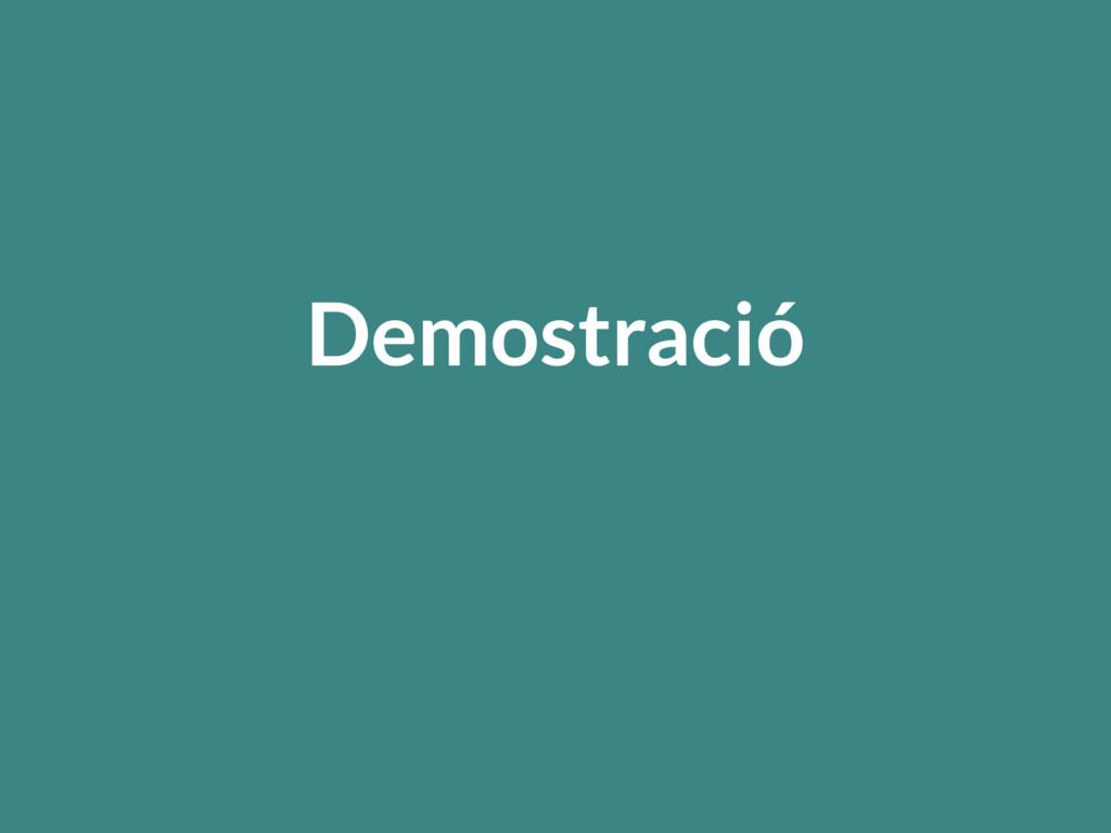 Demostració