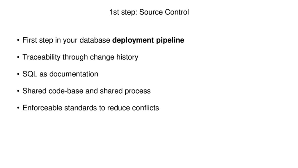 1st step: Source Control • First step in your d...