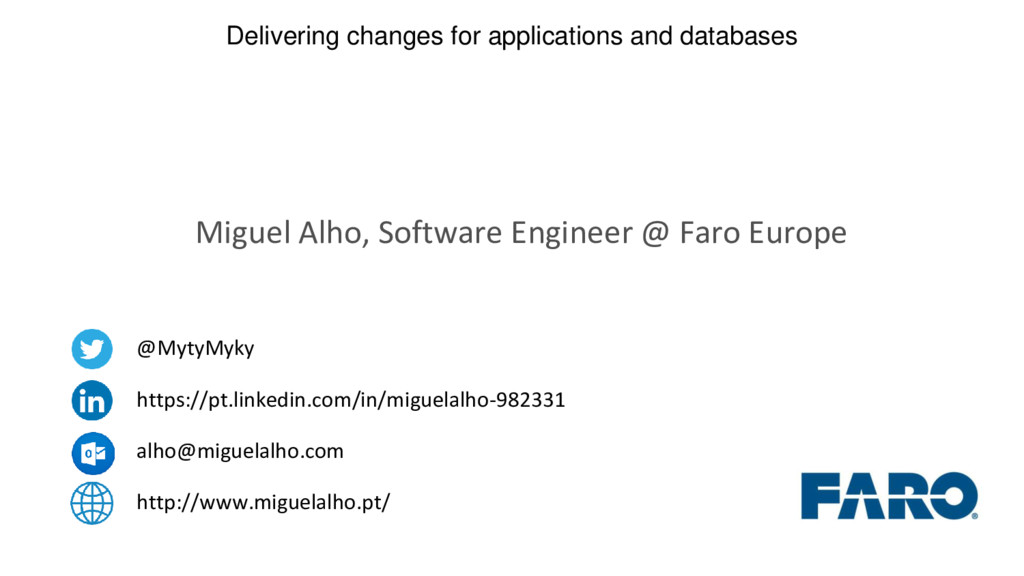 Delivering changes for applications and databas...