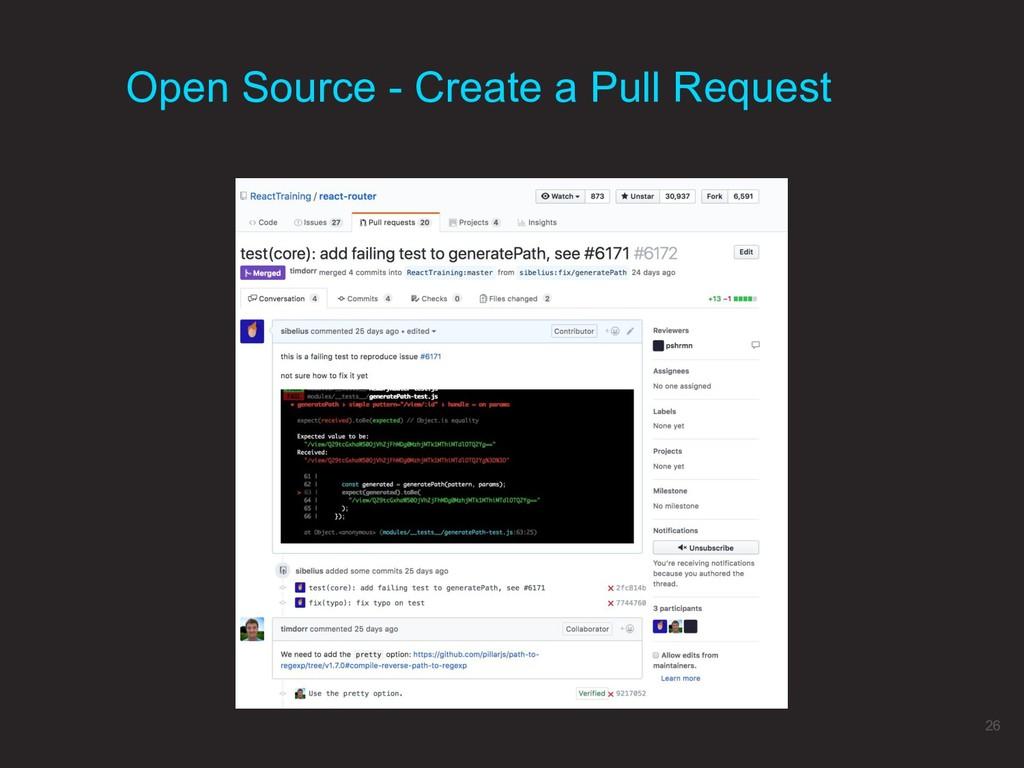 Open Source - Create a Pull Request 26