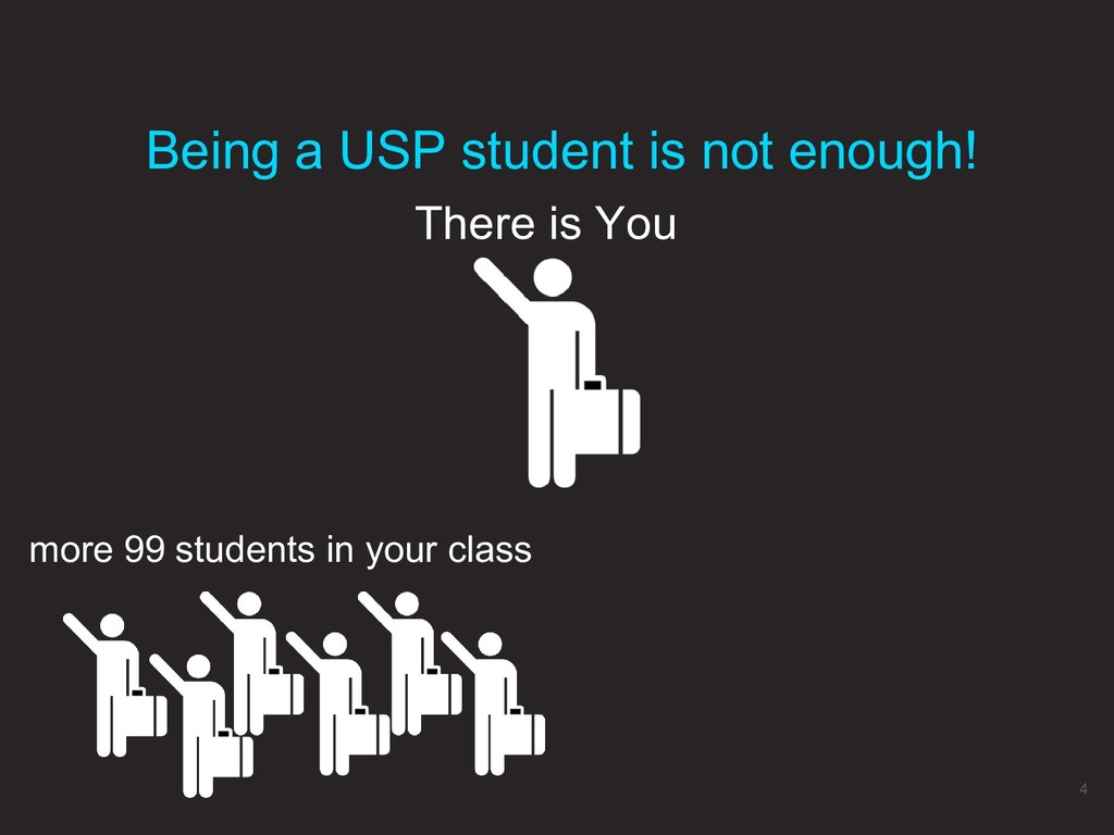 There is You Being a USP student is not enough!...