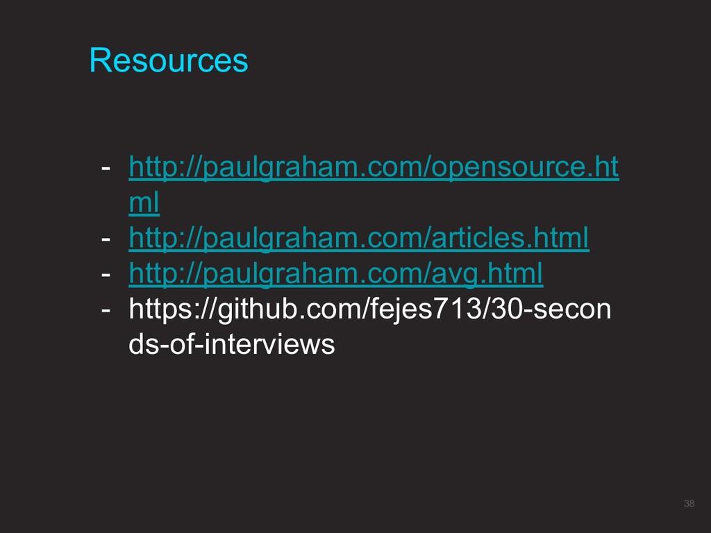 Resources 38 - http://paulgraham.com/opensource...
