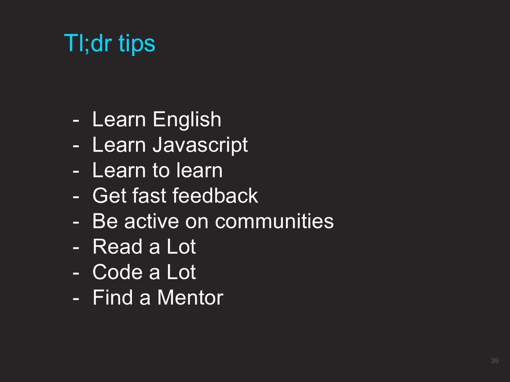 Tl;dr tips 39 - Learn English - Learn Javascrip...