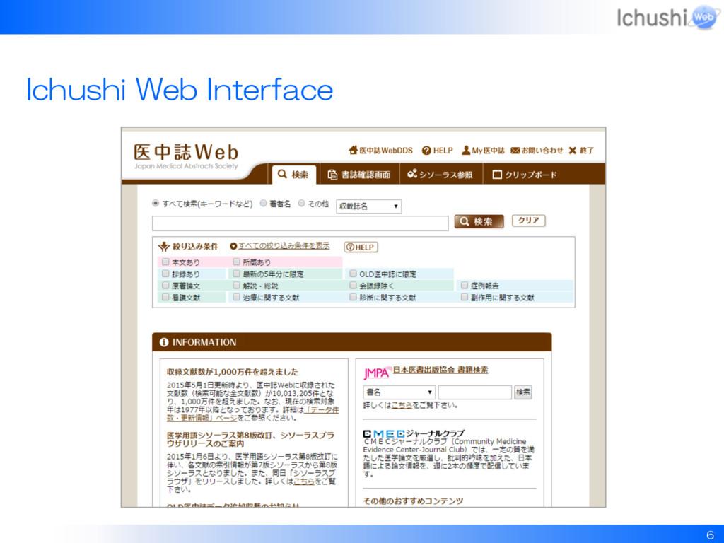 6 Ichushi Web Interface