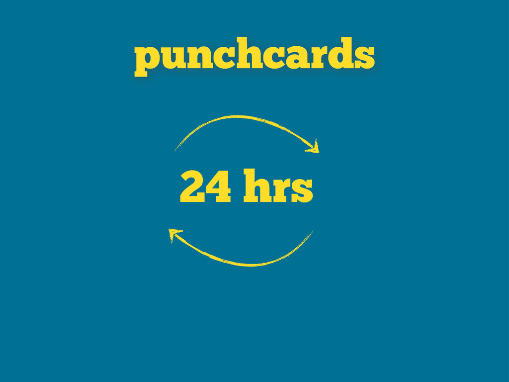 24 hrs punchcards