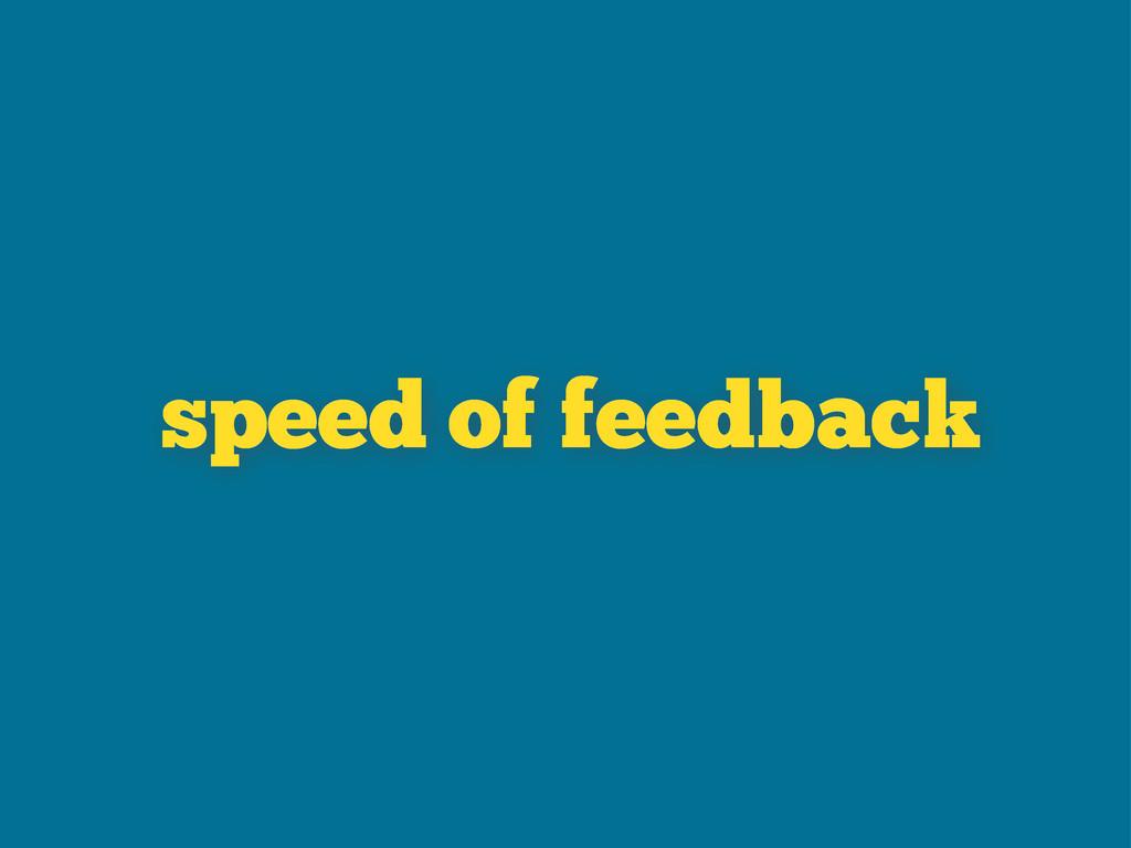 of feedback speed