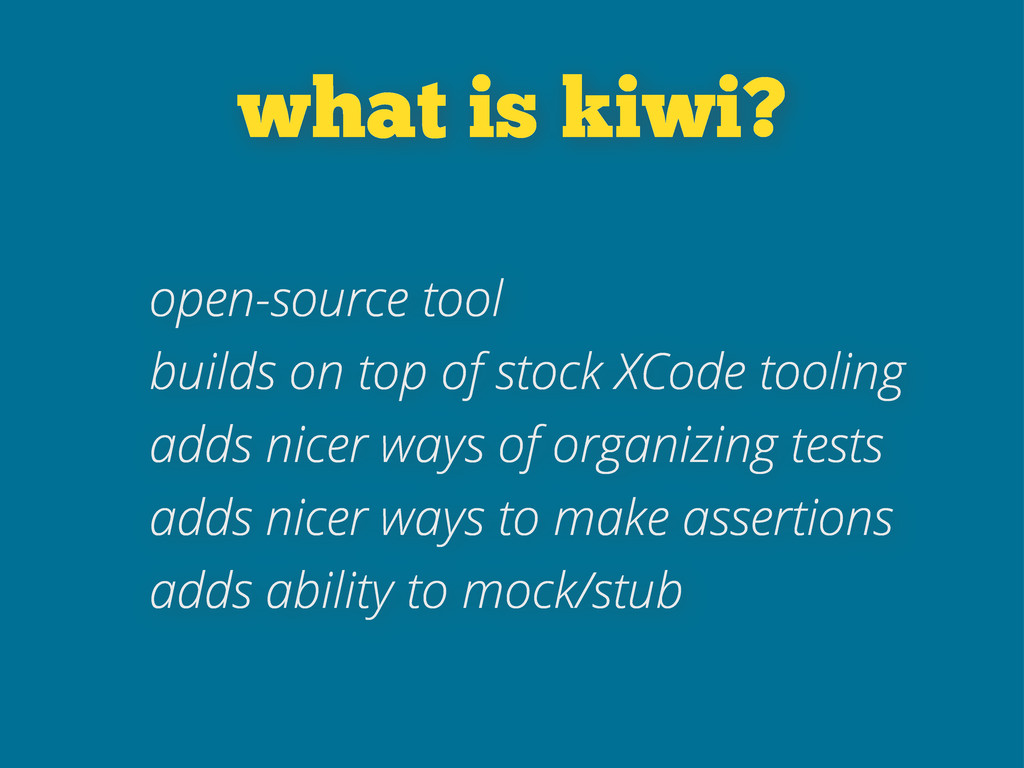 what is kiwi? open-source tool builds on top of...