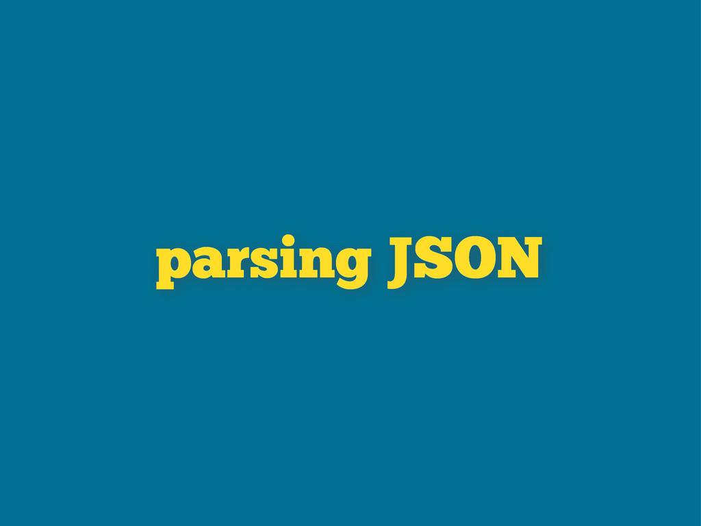 parsing JSON