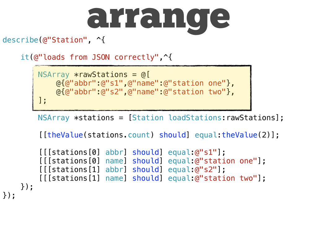 "describe(@""Station"", ^{ it(@""loads from JSON co..."