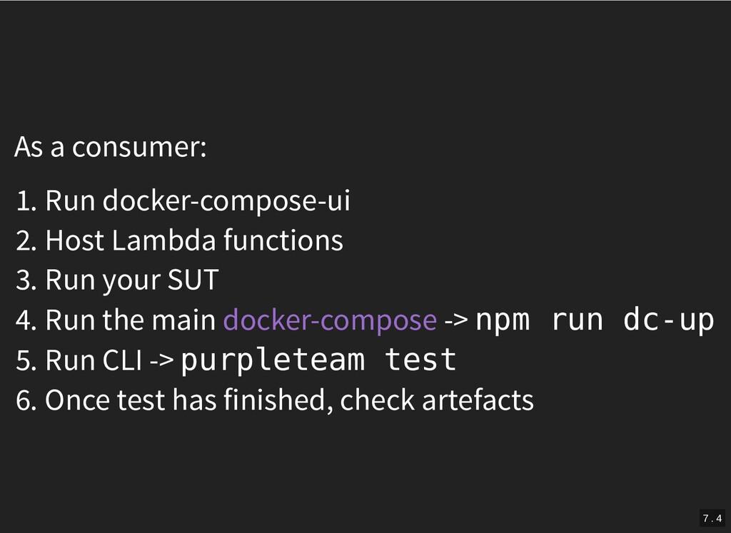 As a consumer: 1. Run docker-compose-ui 2. Host...