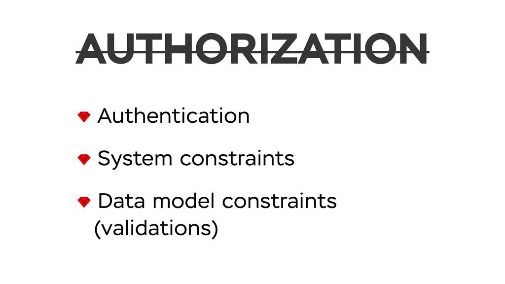Authentication System constraints Data model co...