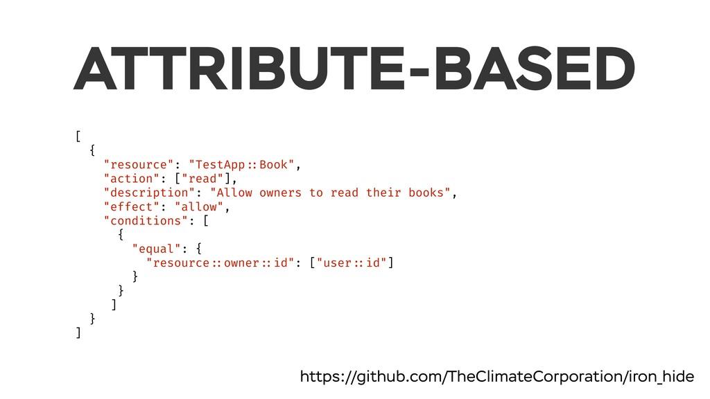 "ATTRIBUTE-BASED [ { ""resource"": ""TestApp ::Book..."