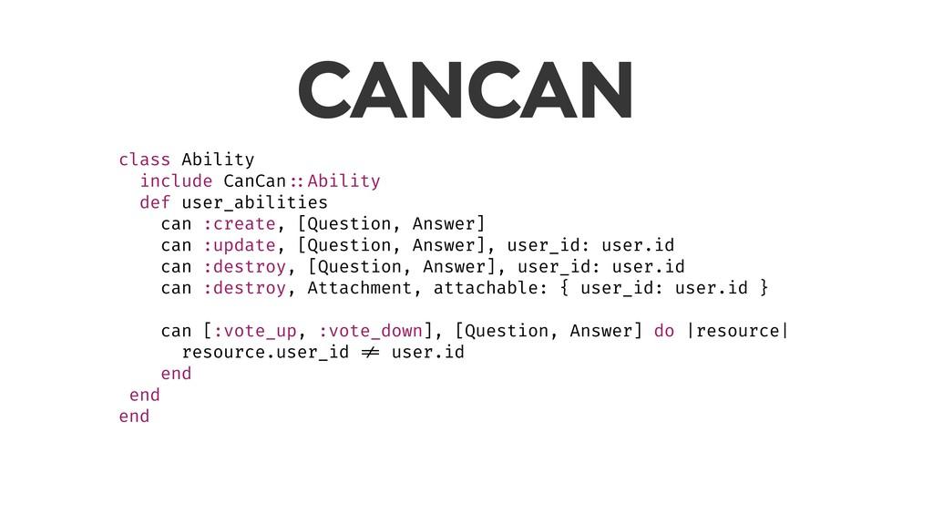 CANCAN class Ability include CanCan ::Ability d...
