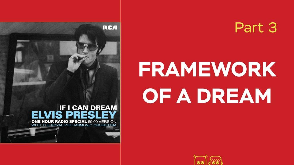 FRAMEWORK OF A DREAM Part 3