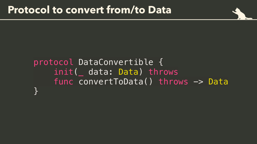Protocol to convert from/to Data protocol DataC...