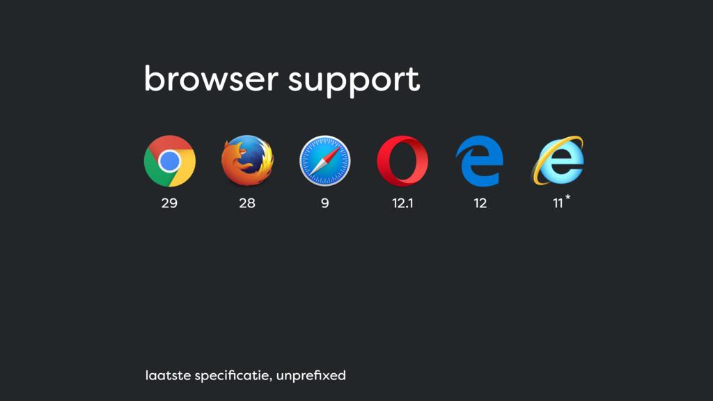 browser support 29 28 9 12.1 12 11 laatste spec...
