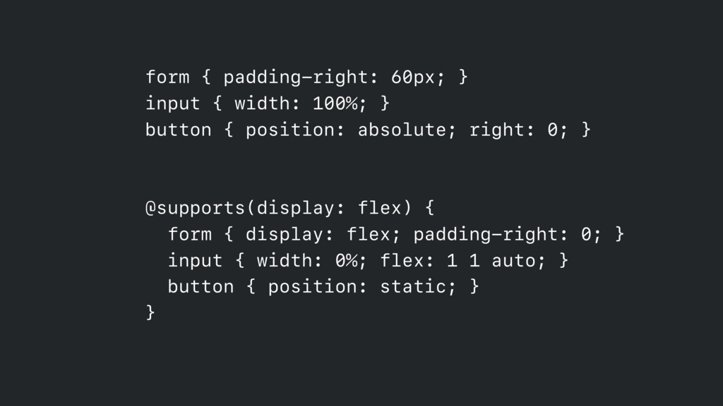 form { padding-right: 60px; } input { width: 1...