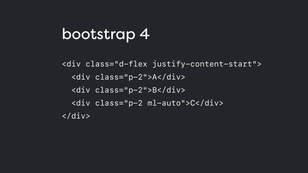 "bootstrap 4 <div class=""d-flex justify-content-..."