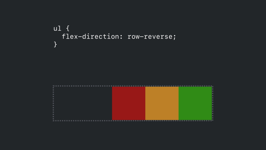 ul { flex-direction: row-reverse; }