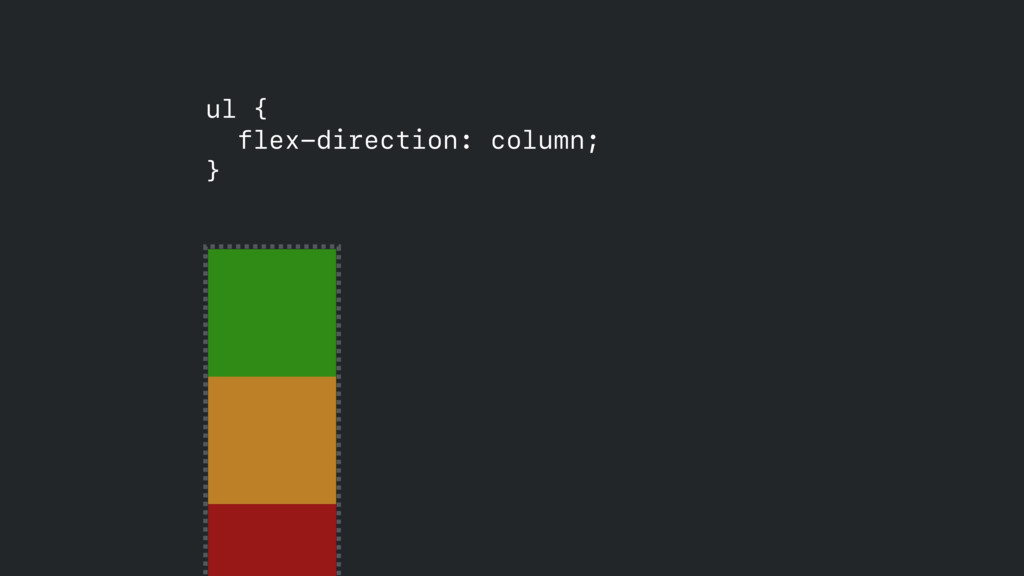 ul { flex-direction: column; }