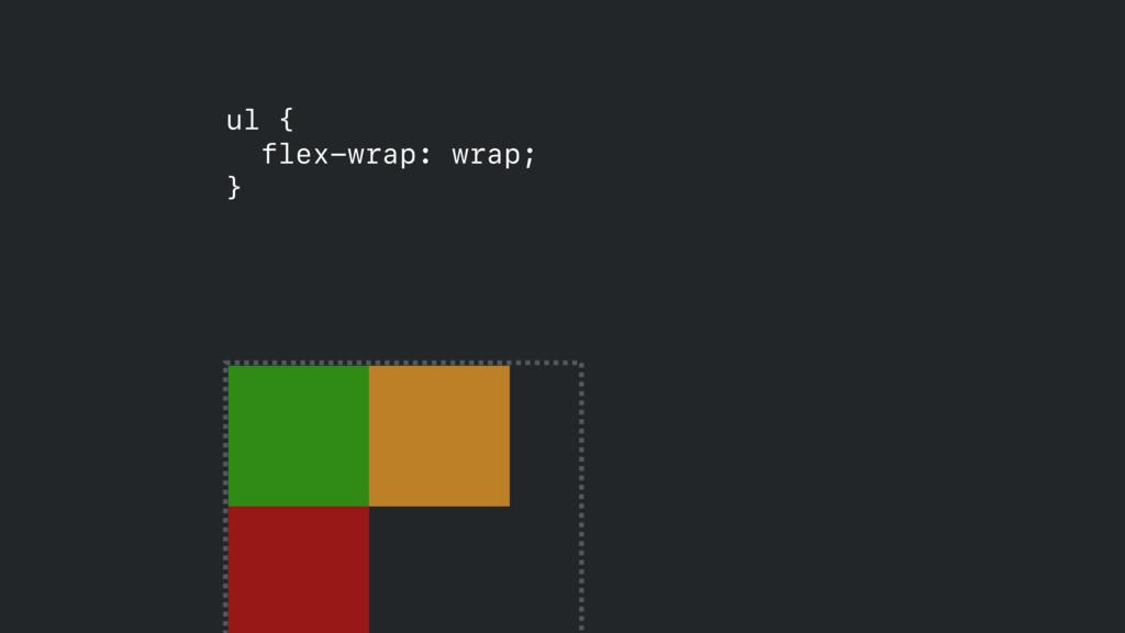 ul { flex-wrap: wrap; }