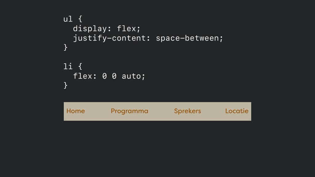 Home Programma Sprekers Locatie ul { display: f...
