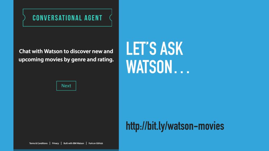 LET'S ASK WATSON… http://bit.ly/watson-movies