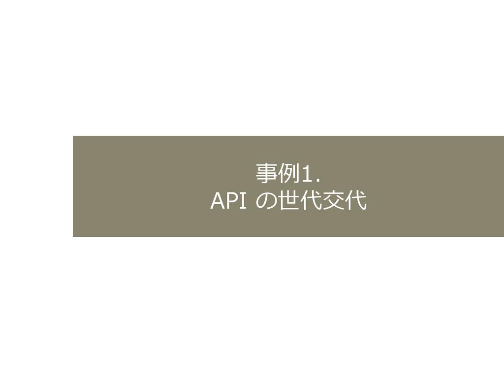 事例例1. API の世代交代