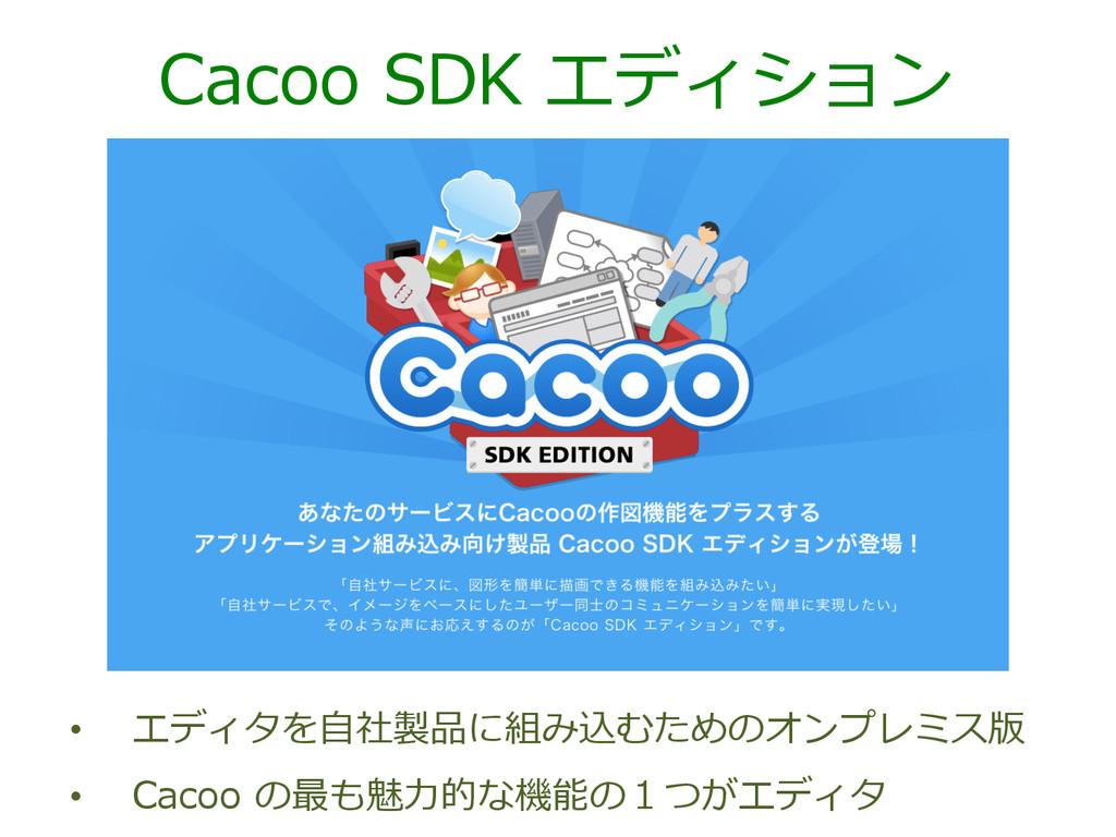 Cacoo SDK エディション • エディタを⾃自社製品に組み込むためのオンプレミス版...