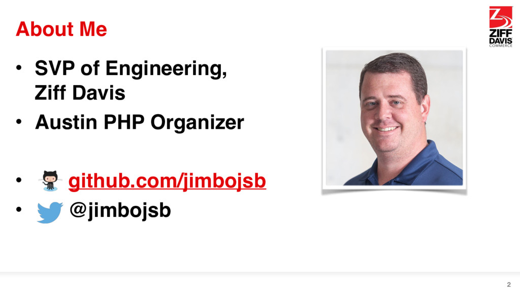 About Me • SVP of Engineering, Ziff Davis • Au...