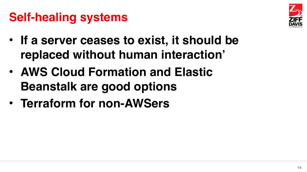 Self-healing systems • If a server ceases to ex...