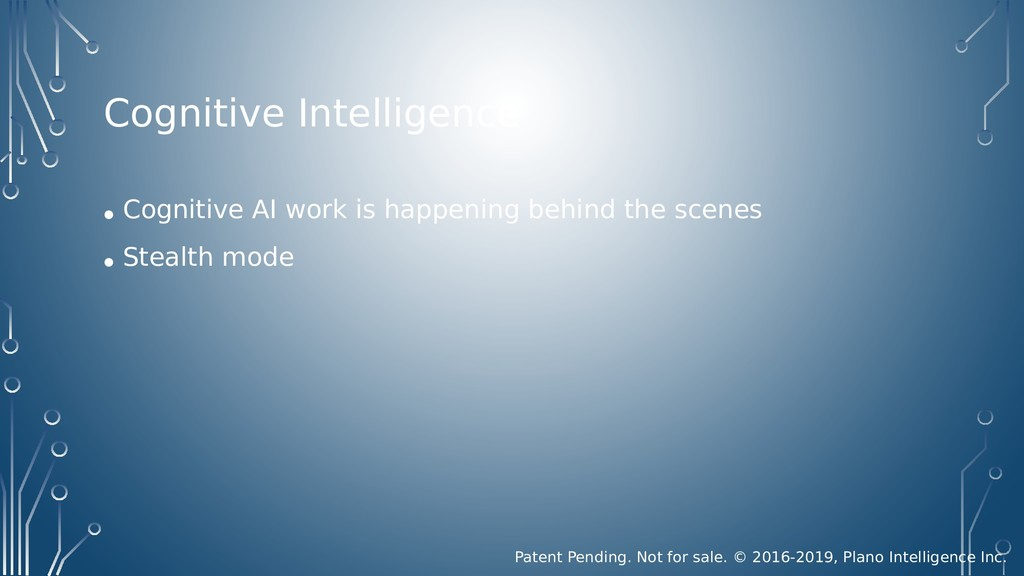 Cognitive Intelligence • Cognitive AI work is h...