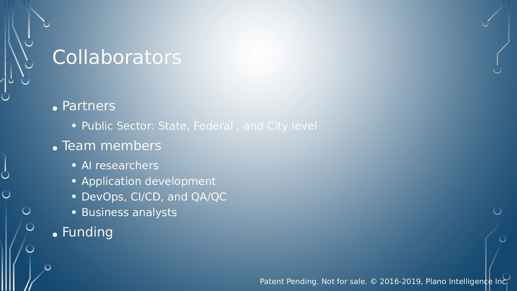 Collaborators • Partners • Public Sector: State...