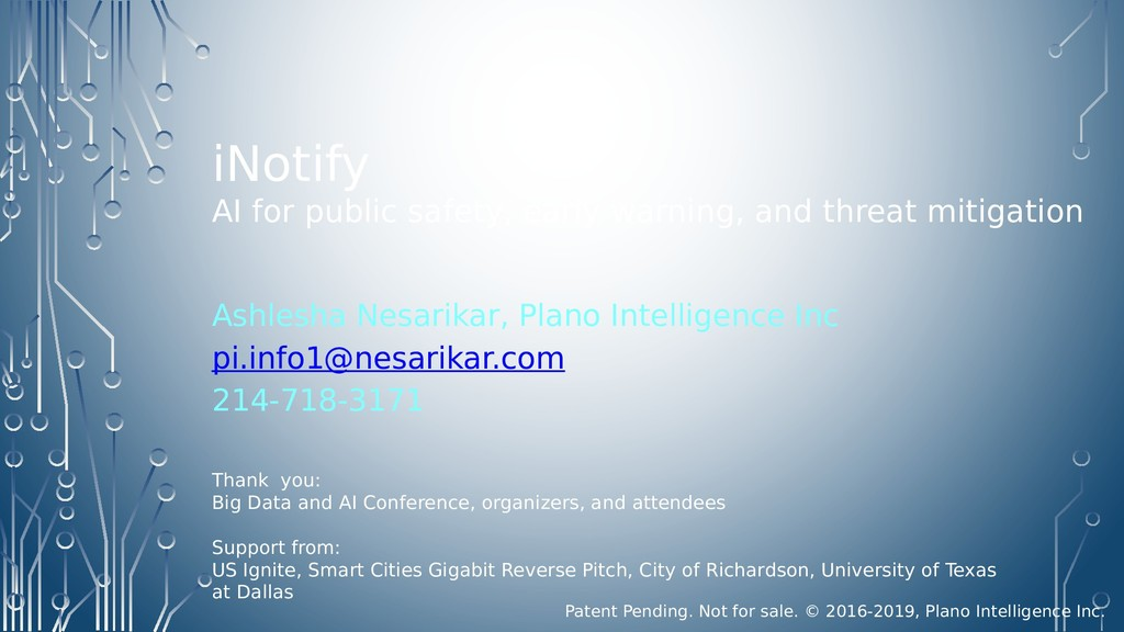iNotify AI for public safety, early warning, an...