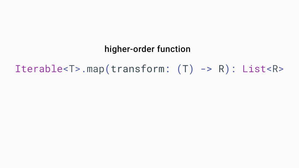 Iterable<T>.map(transform: (T) -> R): List<R> h...