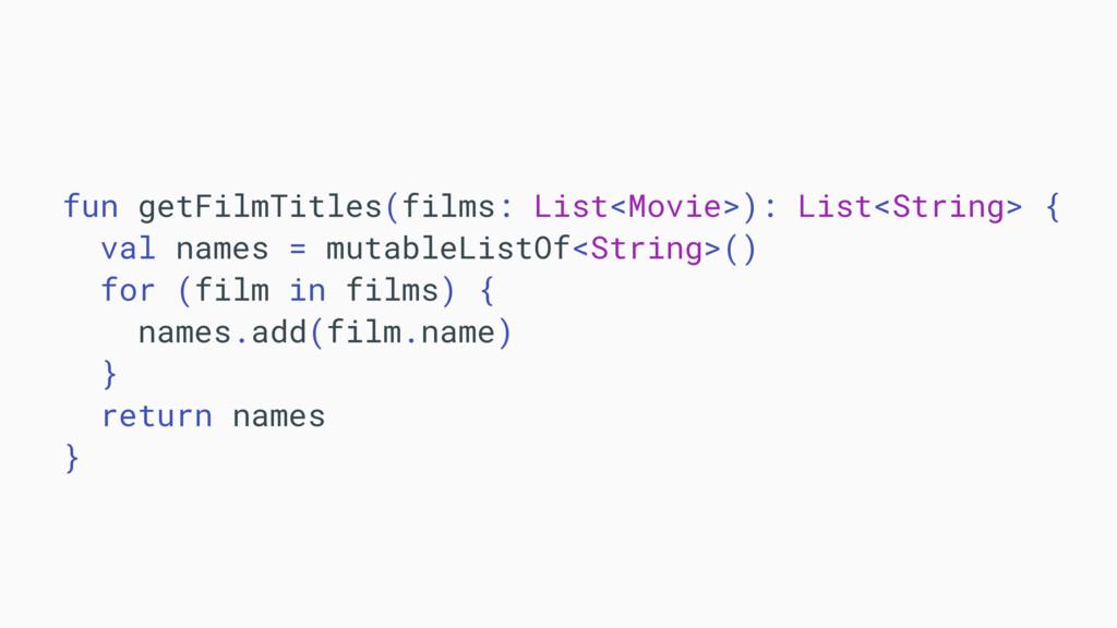 fun getFilmTitles(films: List<Movie>): List<Str...