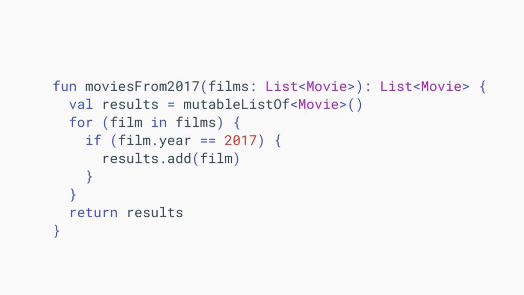 fun moviesFrom2017(films: List<Movie>): List<Mo...