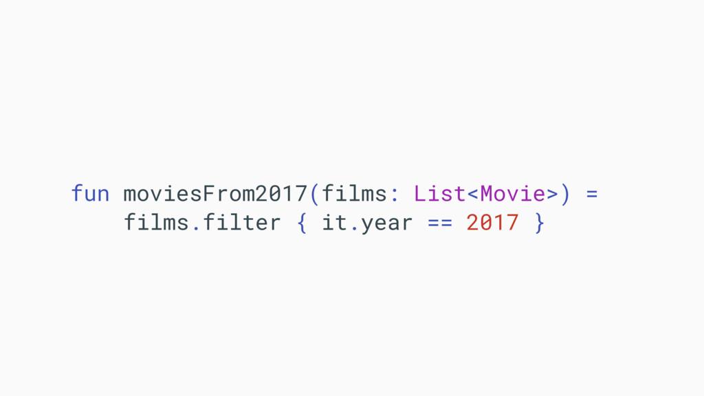 fun moviesFrom2017(films: List<Movie>) = films....