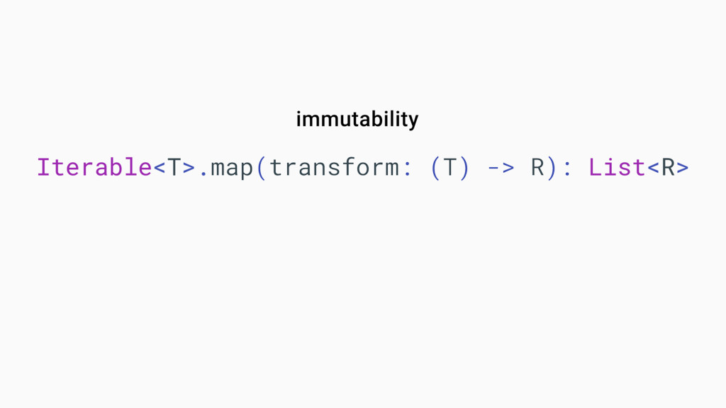 Iterable<T>.map(transform: (T) -> R): List<R> i...
