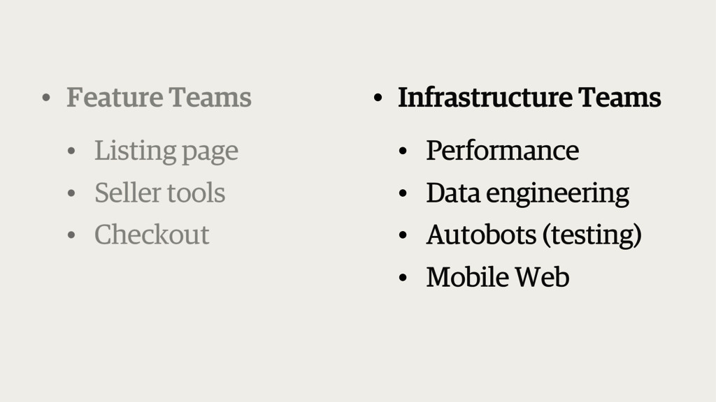 • Infrastructure Teams • Performance • Data eng...