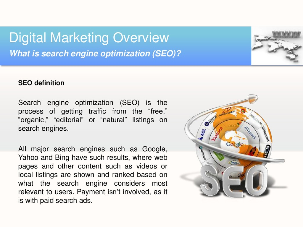 SEO definition Search engine optimization (SEO)...