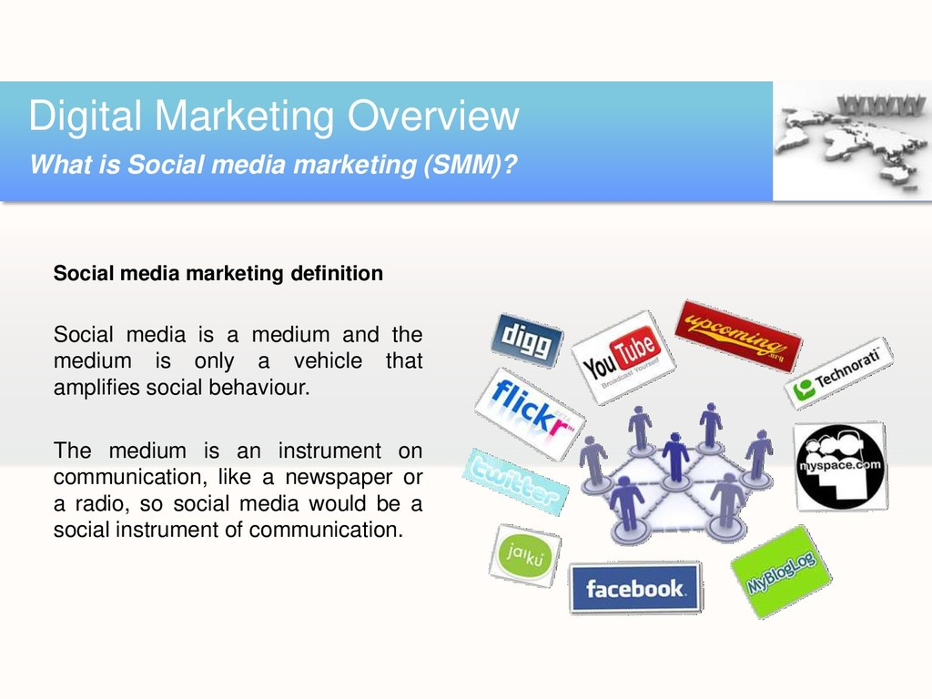 Social media marketing definition Social media ...