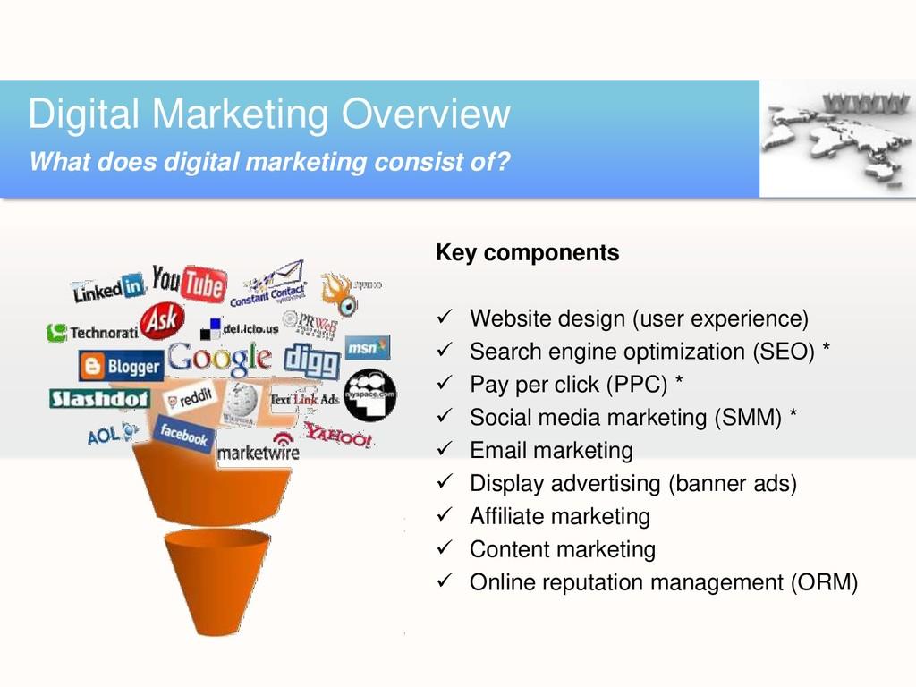 Key components  Website design (user experienc...