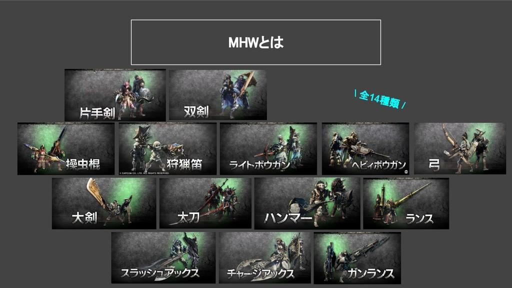 MHWとは \ 全14種類 /