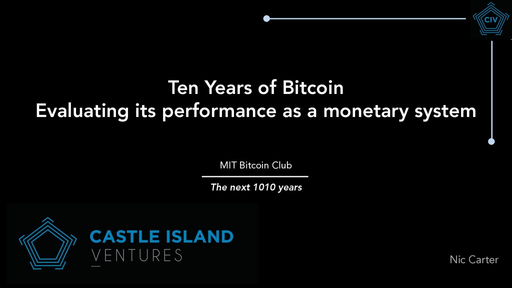 Ten Years of Bitcoin Evaluating its performance...