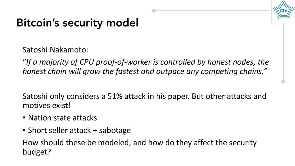 "Satoshi Nakamoto: ""If a majority of CPU proof-o..."