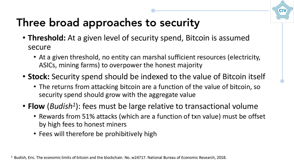 • Threshold: At a given level of security spend...
